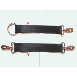 Sangle Crochet/Anneau (A) ou Crochet/Crochet (B). Pour accrocher vos tubes a neige ensemble.